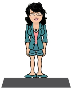 Marcie on a platform